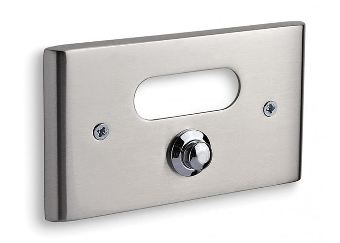 Κουδούνι Εξώπορτας Convex – Σειρά 137B – Ματ Νίκελ/Χρώμιο