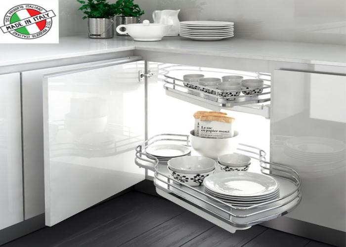 """Μηχανισμός κουζίνας με φρένο για τυφλό ντουλάπι """"φασόλι""""Inoxa Combis 845"""