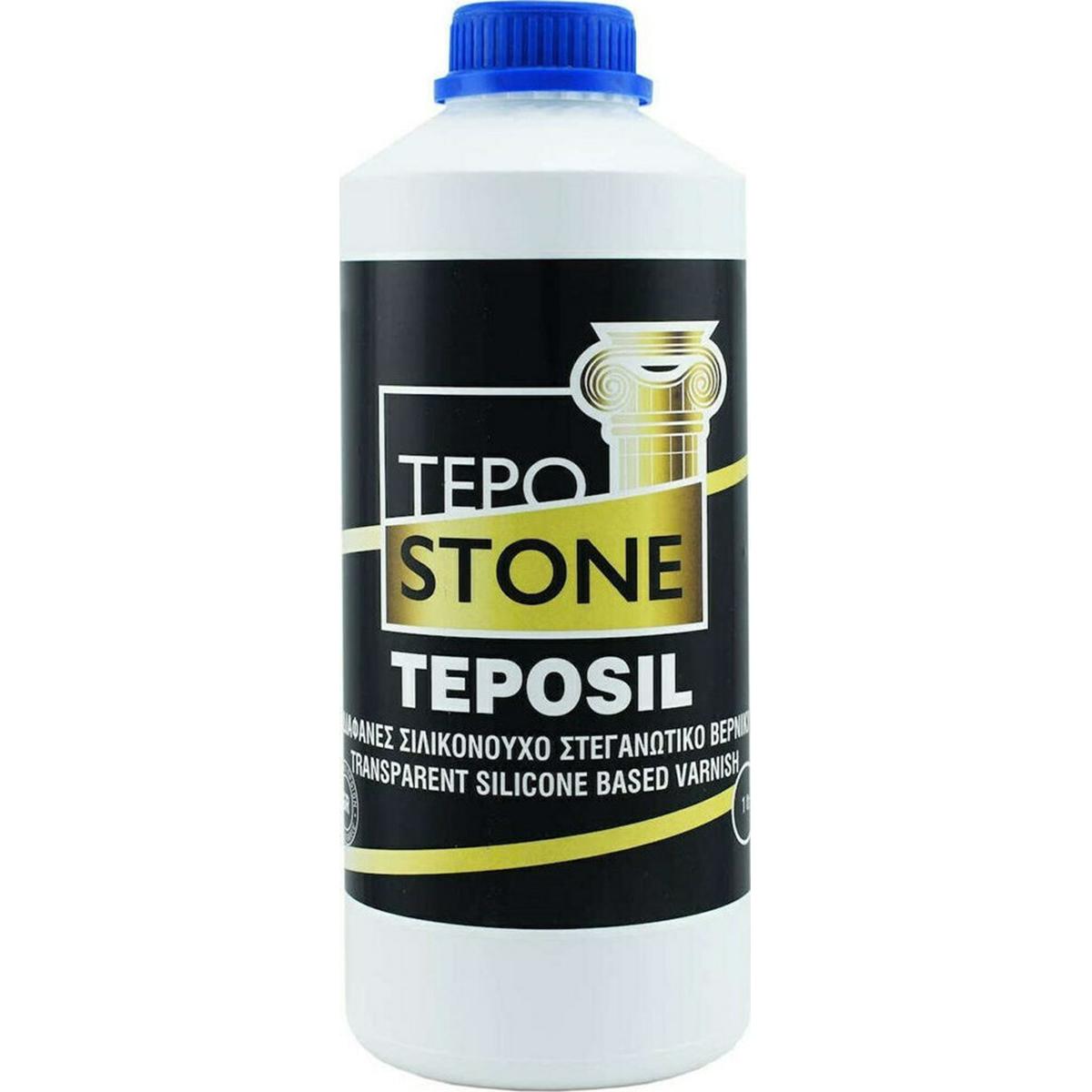 Tepostone Teposil Διαφανές Σιλικονούχο Στεγανωτικό Βερνίκι Ματ 1lt